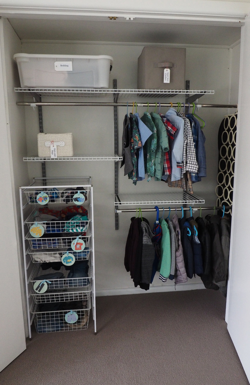 Kids wardrobe storage ideas - The Organised You