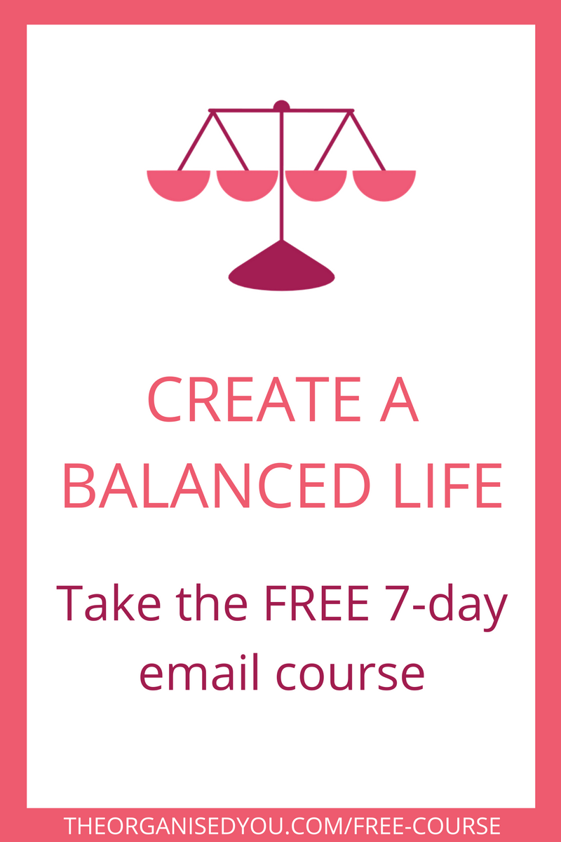 Free 7 day email course from The Organised You