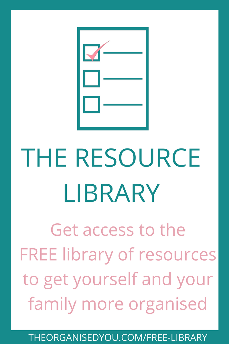 Free resource library from The Organised You