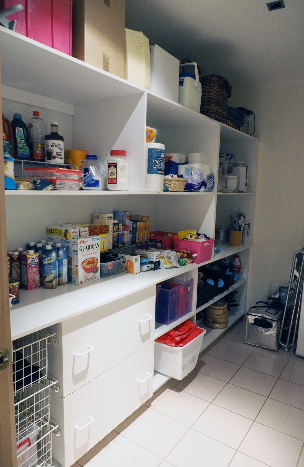 An organised pantry with everything easy to find and easily accessible - The Organised You