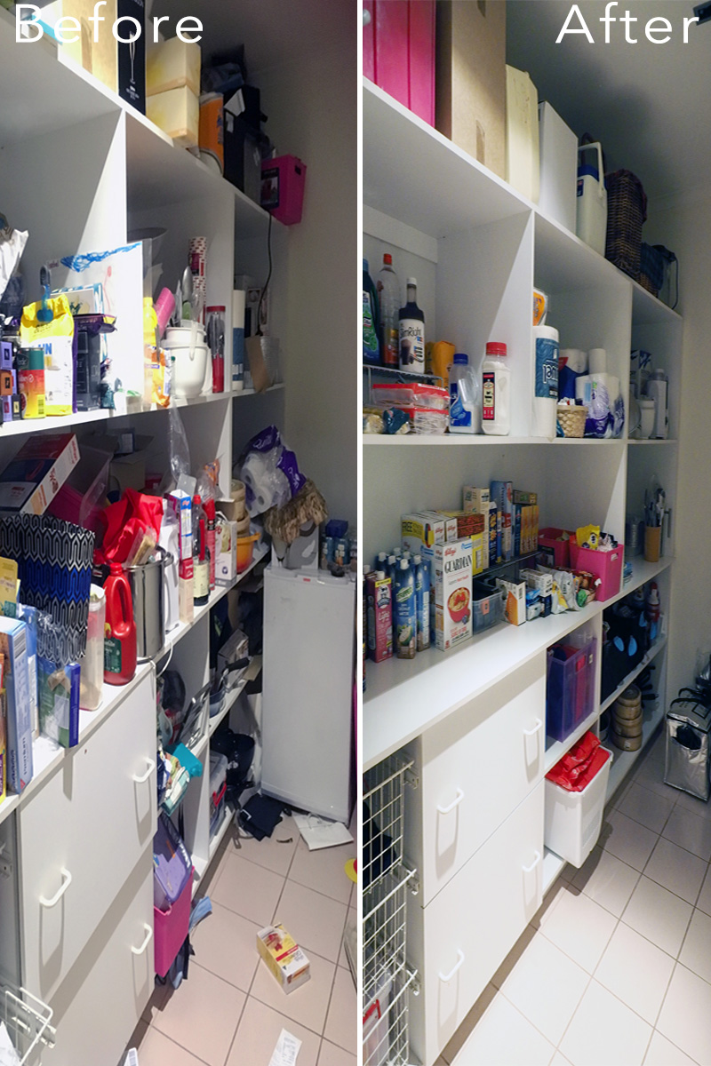 Pantry organisation makeover {The Organised You}