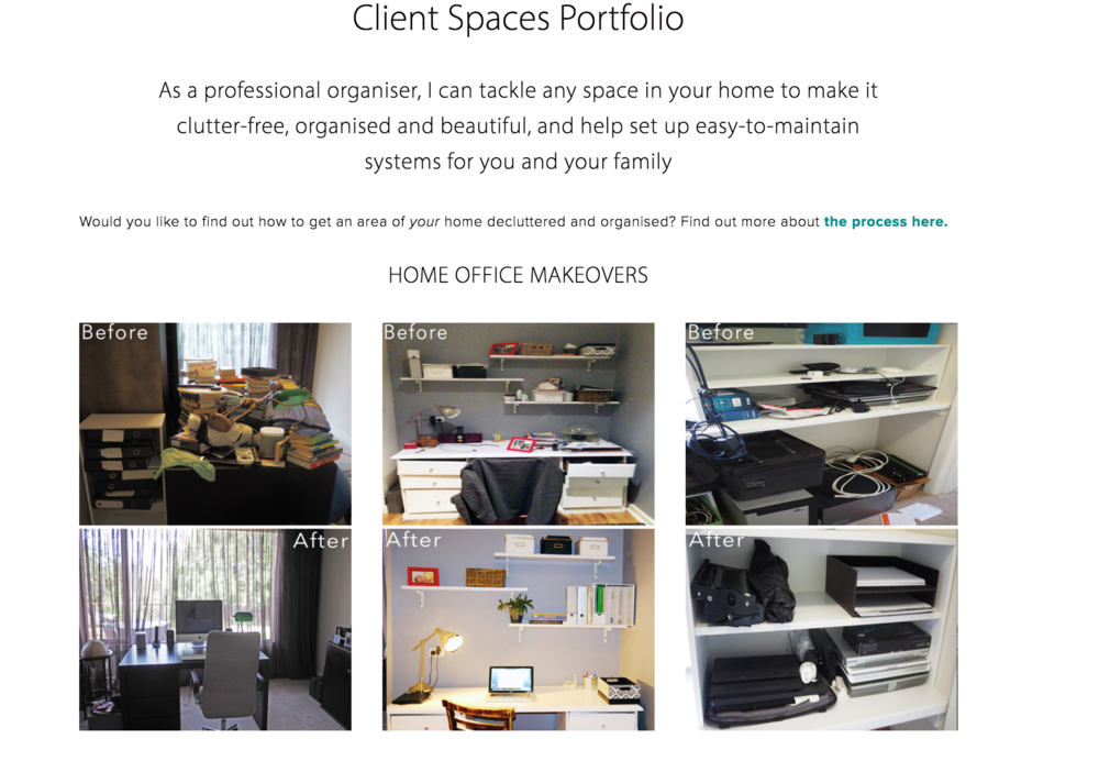 Client space organising makeovers from The Organised You