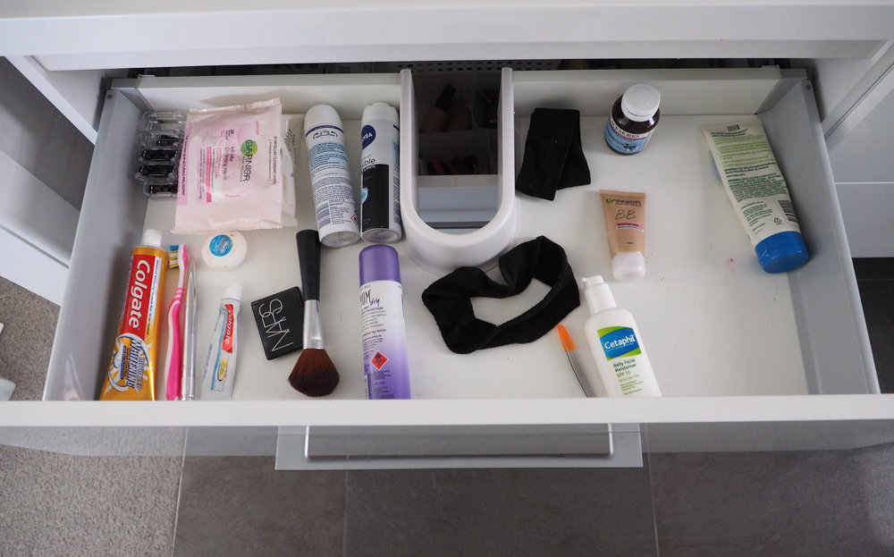 Organised bathroom vanity - The Organised You