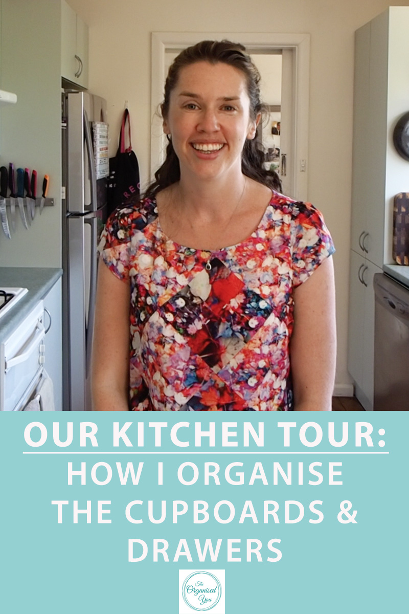 Our Kitchen Tour: How I organise the cupboards & drawers {The Organised You}