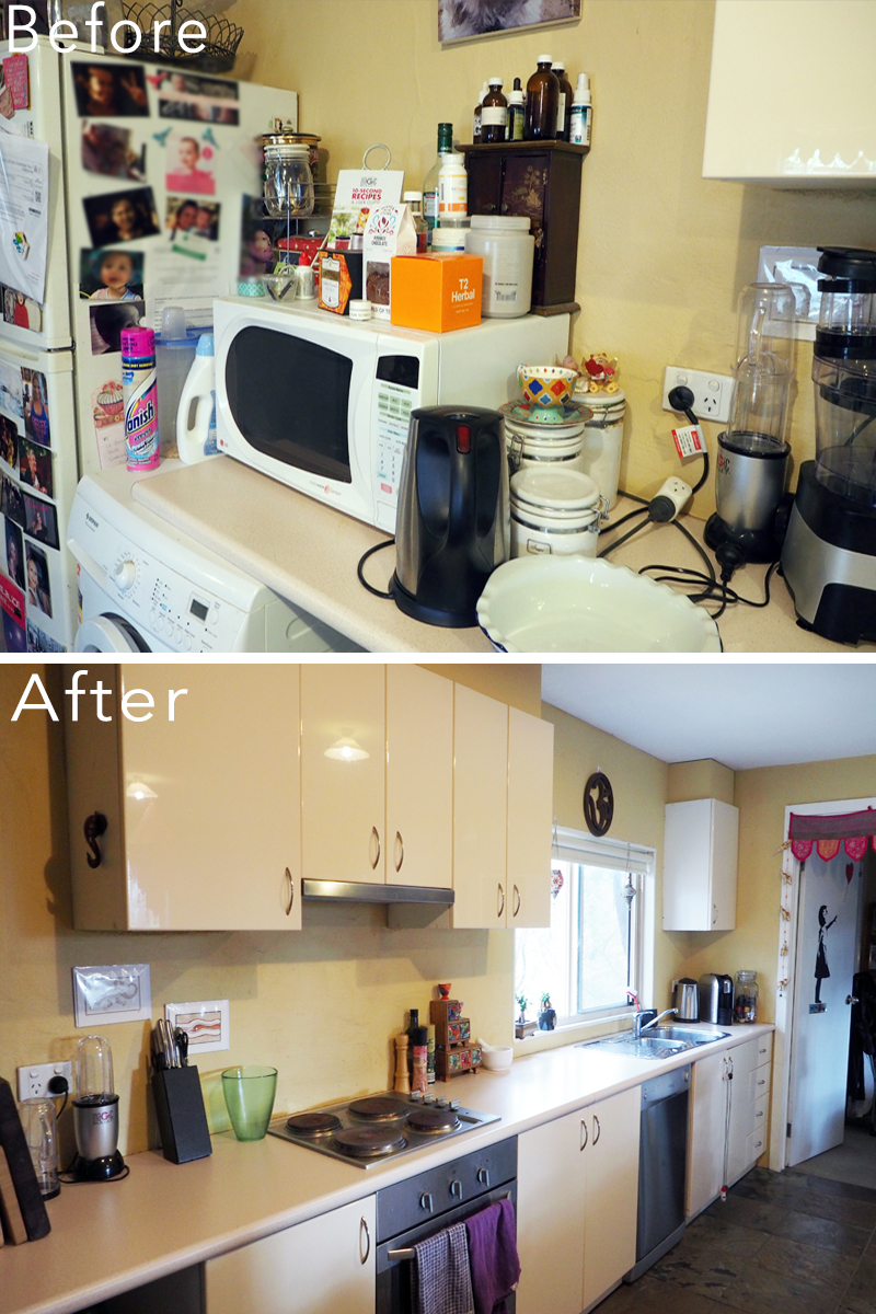 Kitchen makeover - a calm, inviting space where you can enjoy spending time {The Organised You}