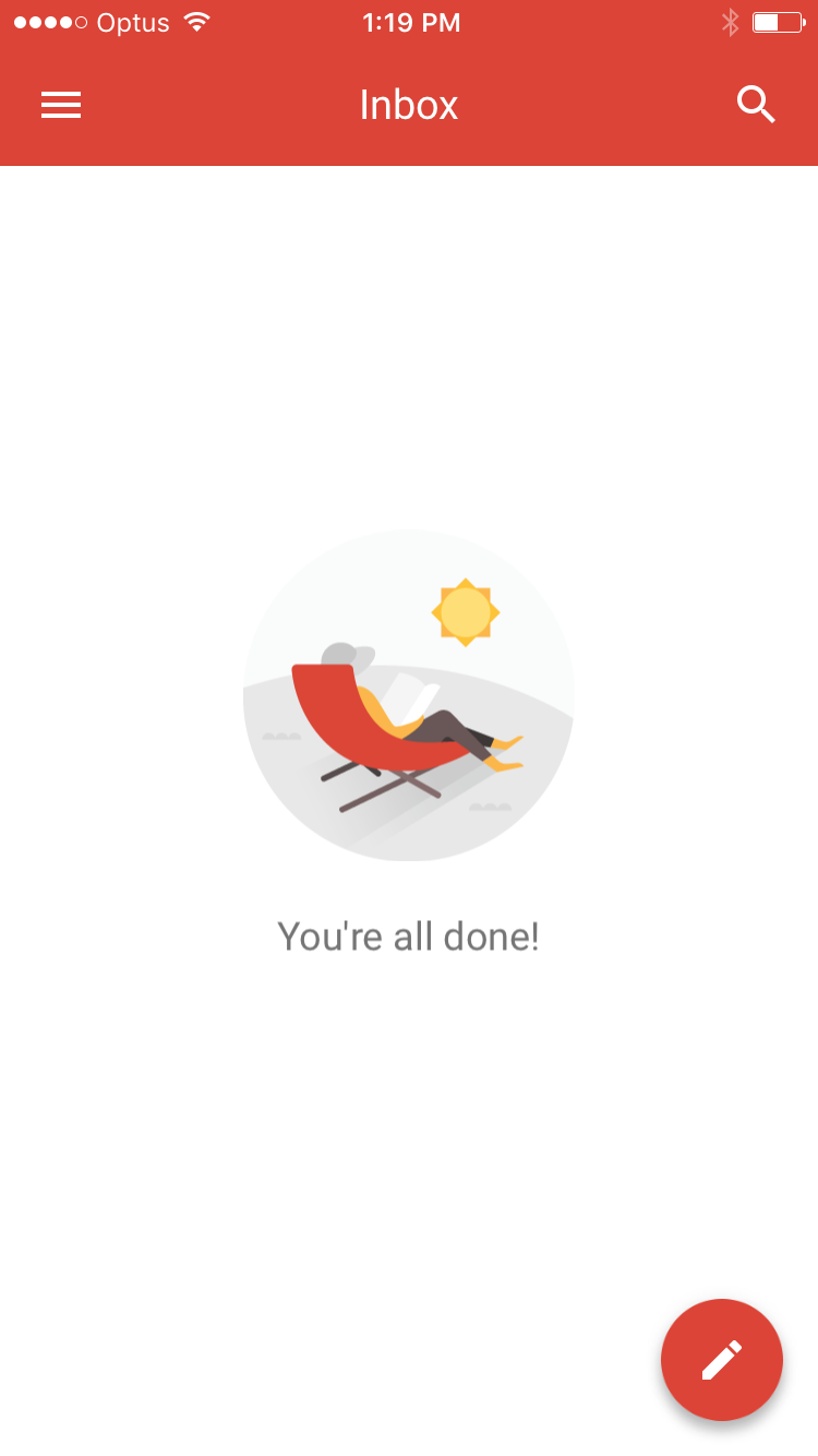 Getting to inbox zero - such a great feeling!