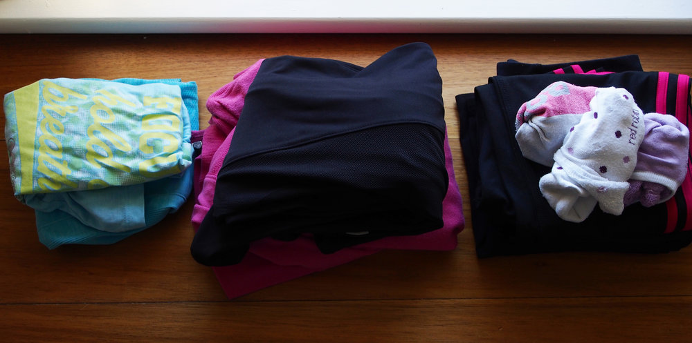 be prepared for exercise by laying out your clothes the night before