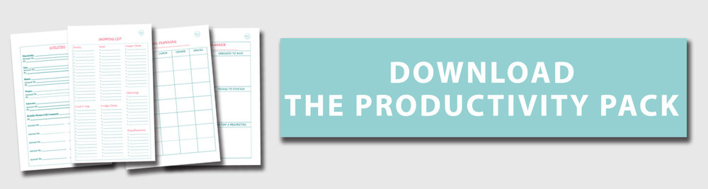 The Productivity Pack {The Organised You}