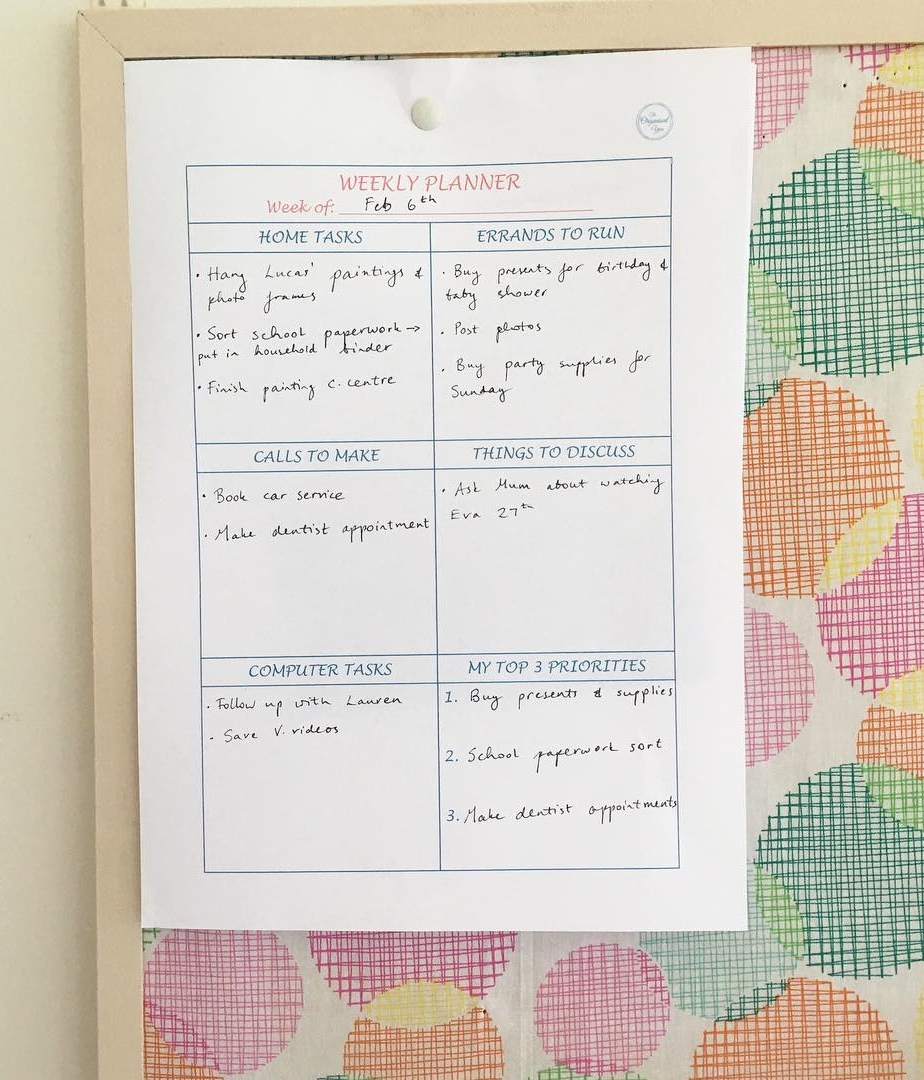 A categorized weekly planner helps you prioritize tasks and get more done {The Organised You}