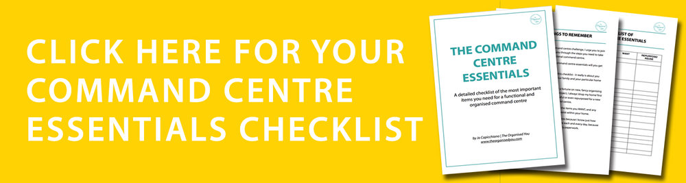 Command centre essentials checklist {The Organised You}
