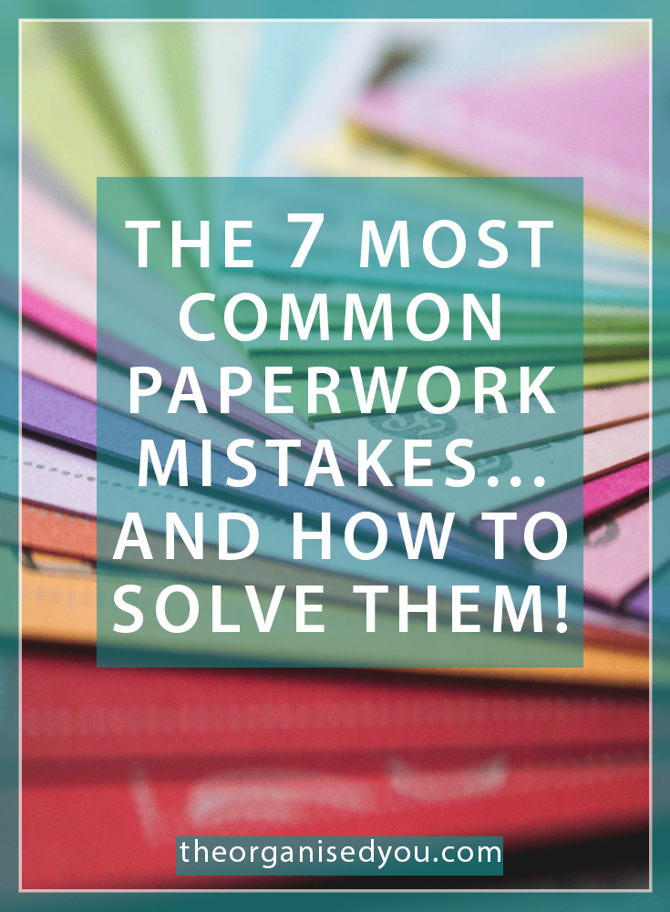 The 7 Most Common Paperwork Mistakes... And How to Avoid Them: knowing how to avoid these common paperwork struggles all comes down to organised paper systems and being more proactive about purging excess paper. Click through to learn how to solve common paperwork mistakes, and get your FREE guide for what paper to keep and what you can safely get rid of!