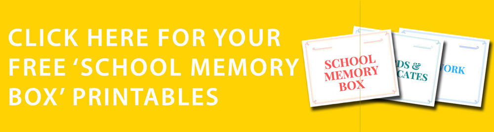 Free School Memory Box printables from The Organised You