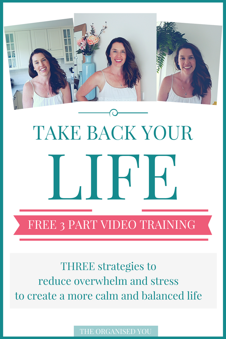 FREE 3-part video training teaching you 3 strategies to create a more calm and balanced life