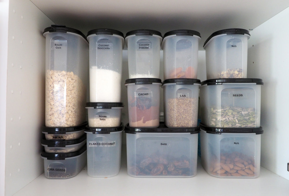 Stackable containers are fantastic for an organised pantry to maximise storage space {The Organised You}