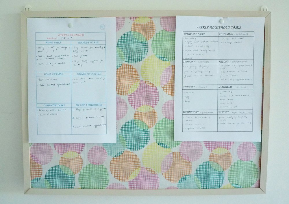 Plan out the week's tasks by category to be more productive and efficient with your time {printable from The Organised You Productivity Pack}