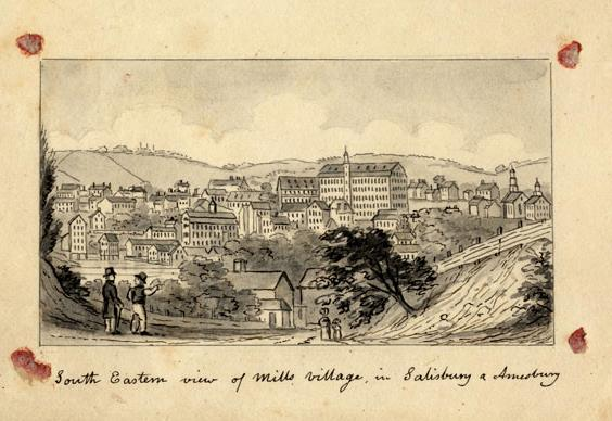 The original pencil and ink version of the published engraving. From the collections of the American Antiquarian Society in Worcester.