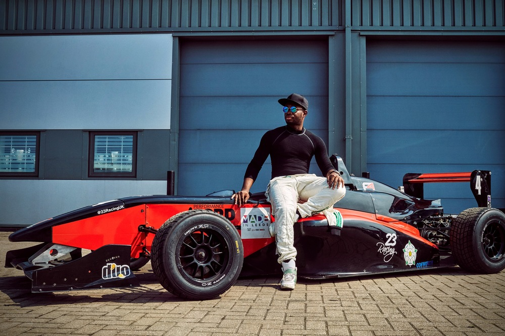 Introducing      Nigeria's First     Racing Driver