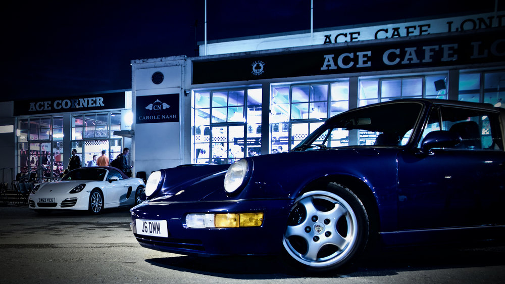 Porsche Club GB meeting at the Ace Cafe London