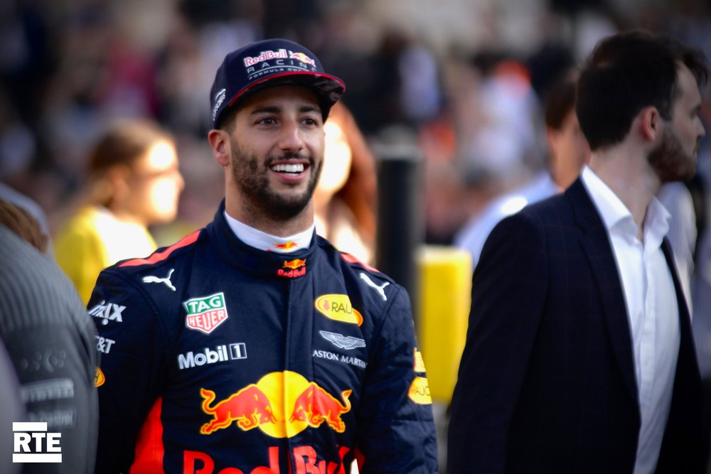 Ricciardo as smiley as usual