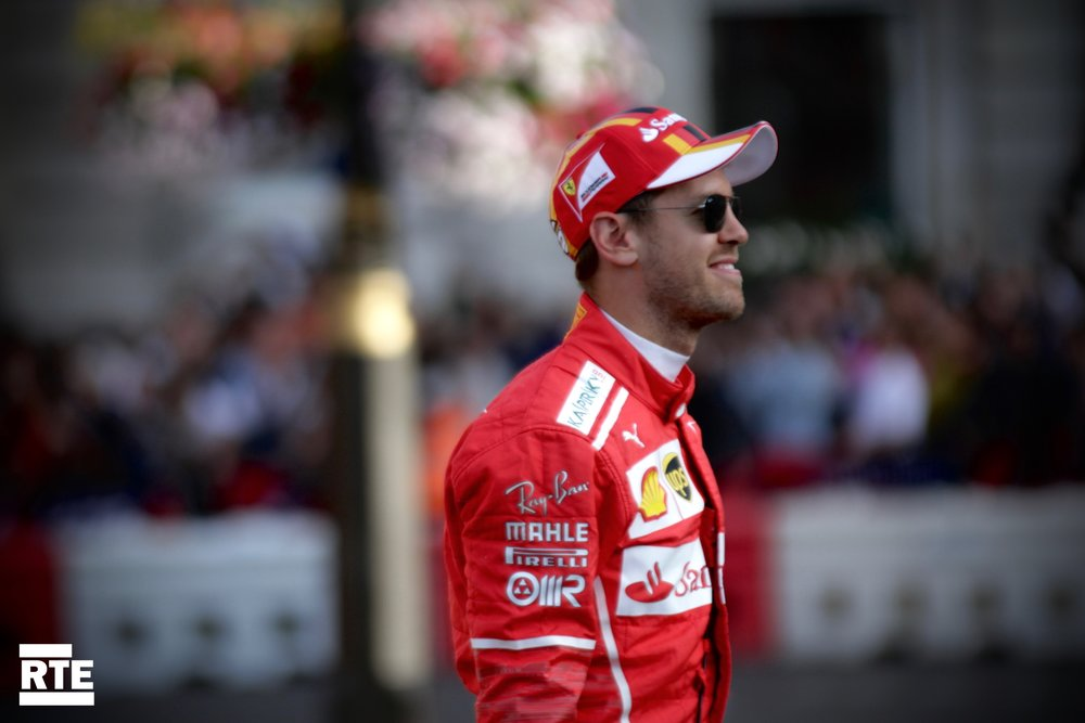 Sebastian Vettel looking cool in shades
