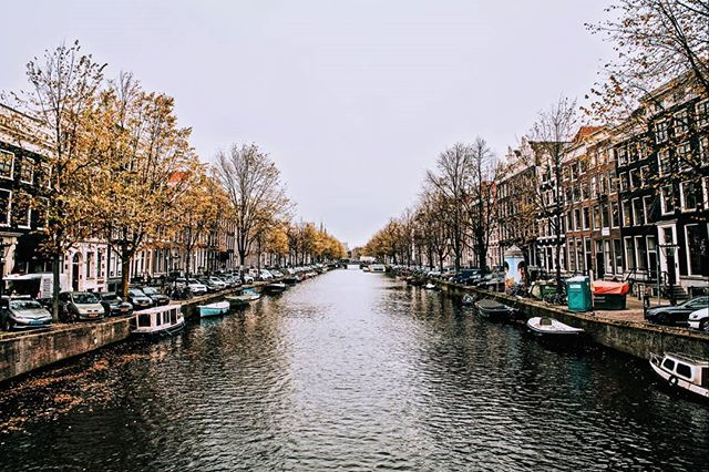 Canals in Amsterdam #Photography . . . . #Travel #Instatravel #Sunset #View #Travelgram #Vacation #Adventure #Travelphotography #Travelgram #Roadtrip  #travelling #trip #travelblog #travelpics #tourist #wanderlust #Amsterdam #Canal #Boat #Autumn #Canon #Netherlands #Dutch #Canon #Winter