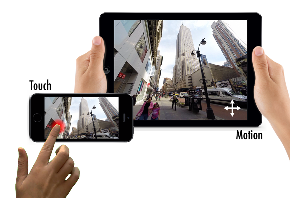 Touch and motion control of video