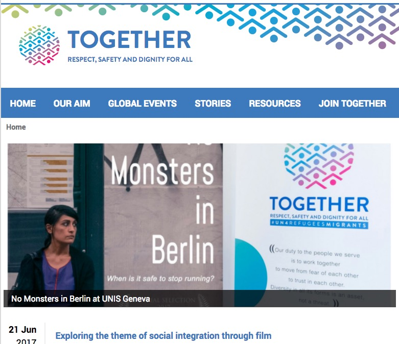 "No Monsters Featured on the UN ""Together"" platform."