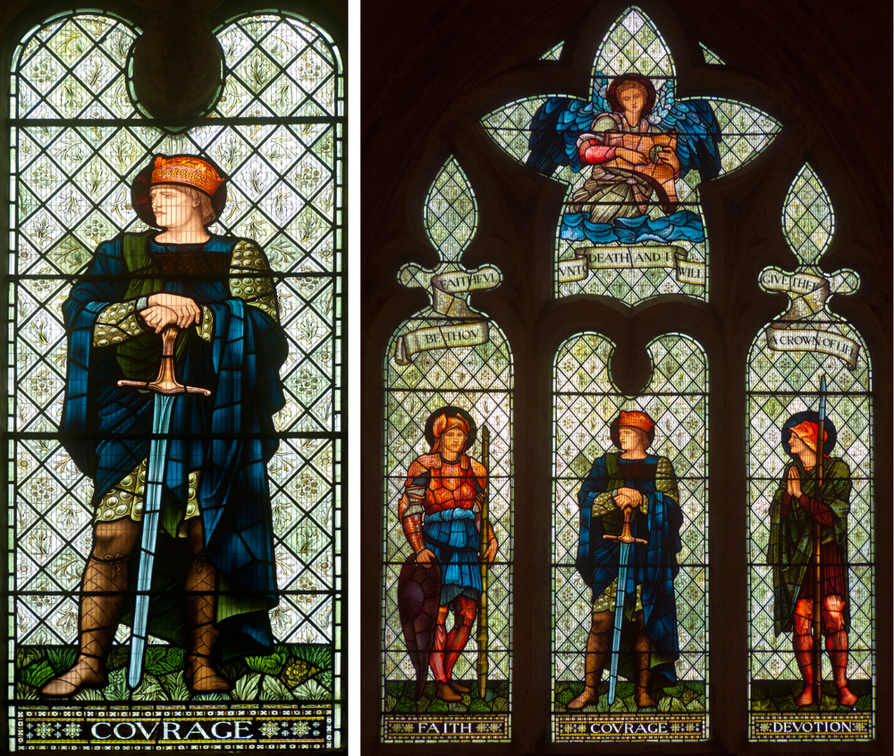 The Luce Window, Malmesbury Abbey. Made by Morris & Company in 1901 to designs by EBJ. Click to enlarge.