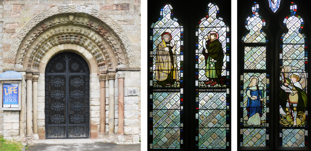 Entrance to St. Nicholas, Beaudesert                                            2 of a set of 5 windows by Morris, Marshall, Faulkner & Co. 1865