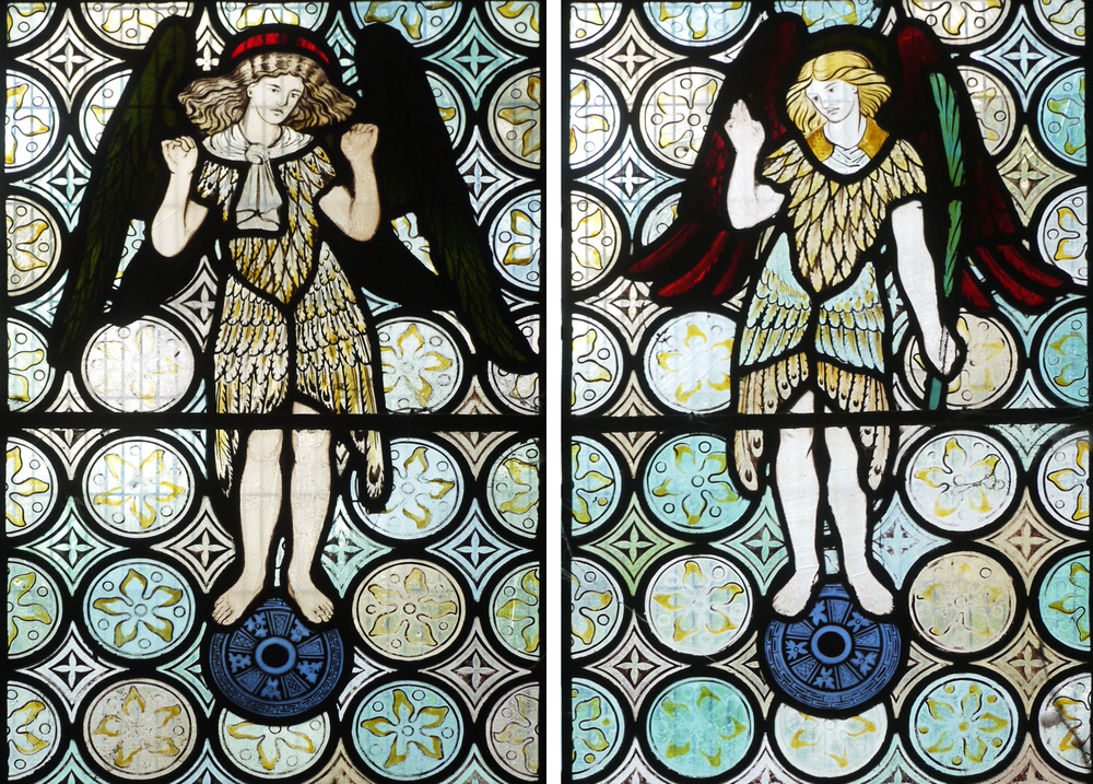 Two of five Morris, Marshall, Faulkner & co. angels