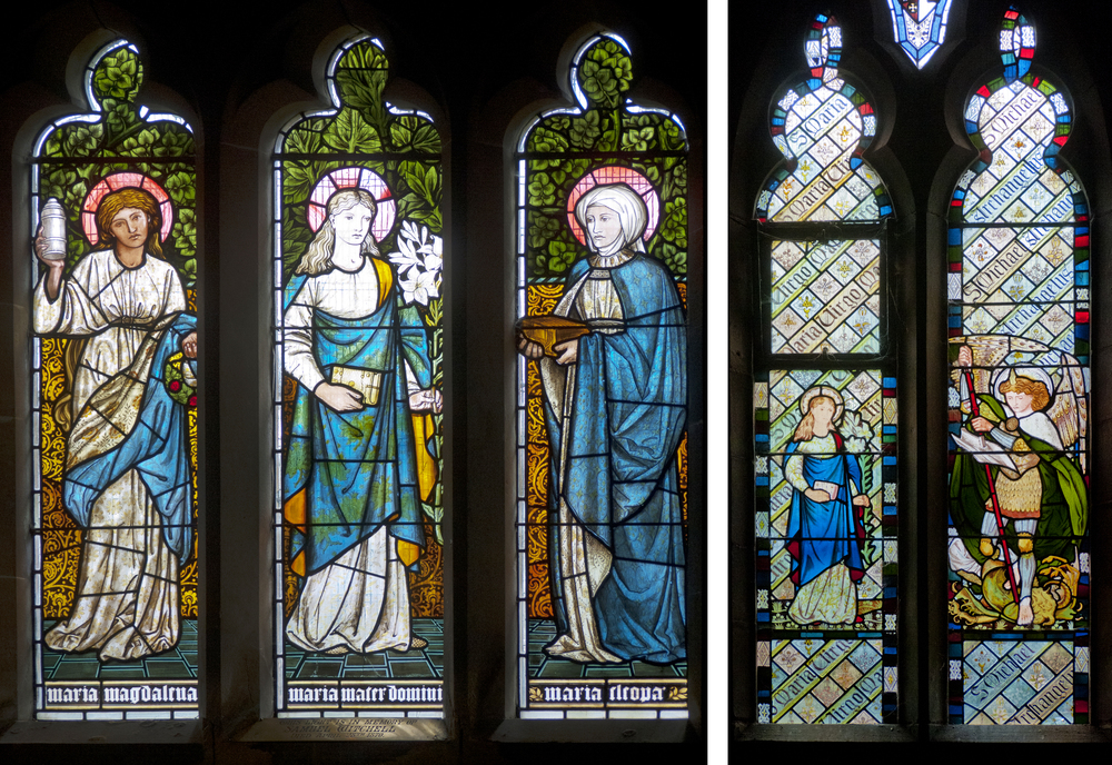The Mary Window, Sopworth, Wiltshire 1873                                                                  Saints Mary and Michael, Beaudesert 1865
