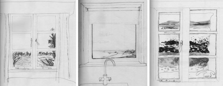 window view drawing. drawing 4, loch lomond window view