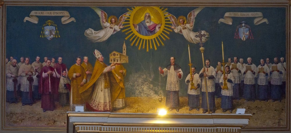Wall painting, Cathedral of Saint Benedict, Gualdo Tadino