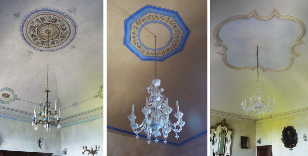 Circle, octagon and cloud on the ceilings of Castello di Semivicoli.