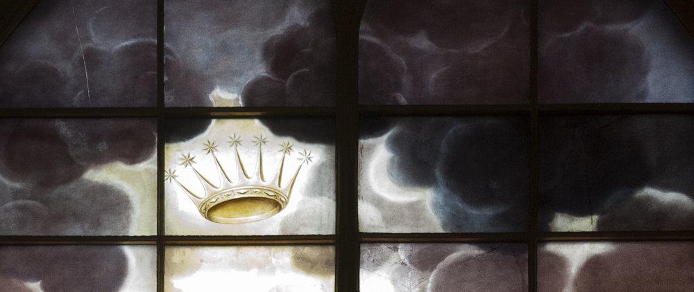 Top of Eginton's St. Alkmund's window