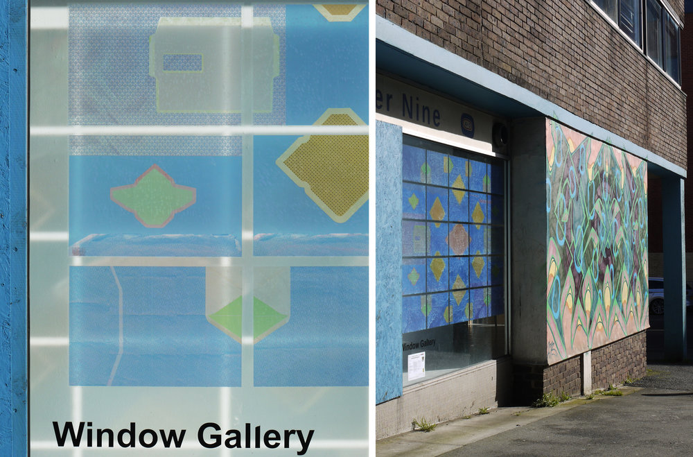 Window vinyls in No 9 Gallery, Artsite, Swindon
