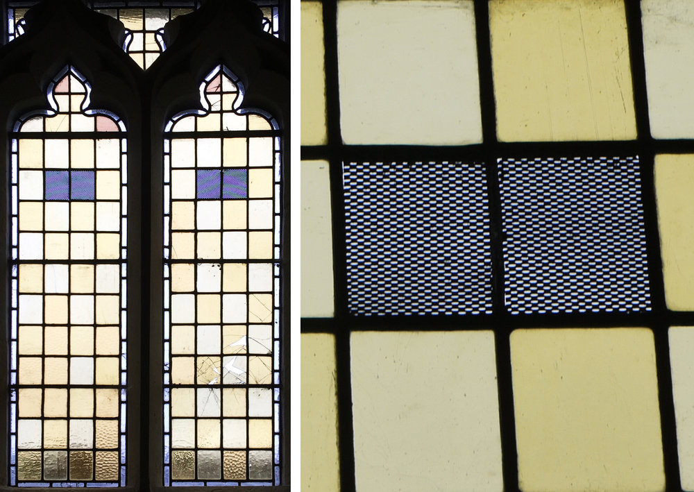 A pair of windows in All Saints