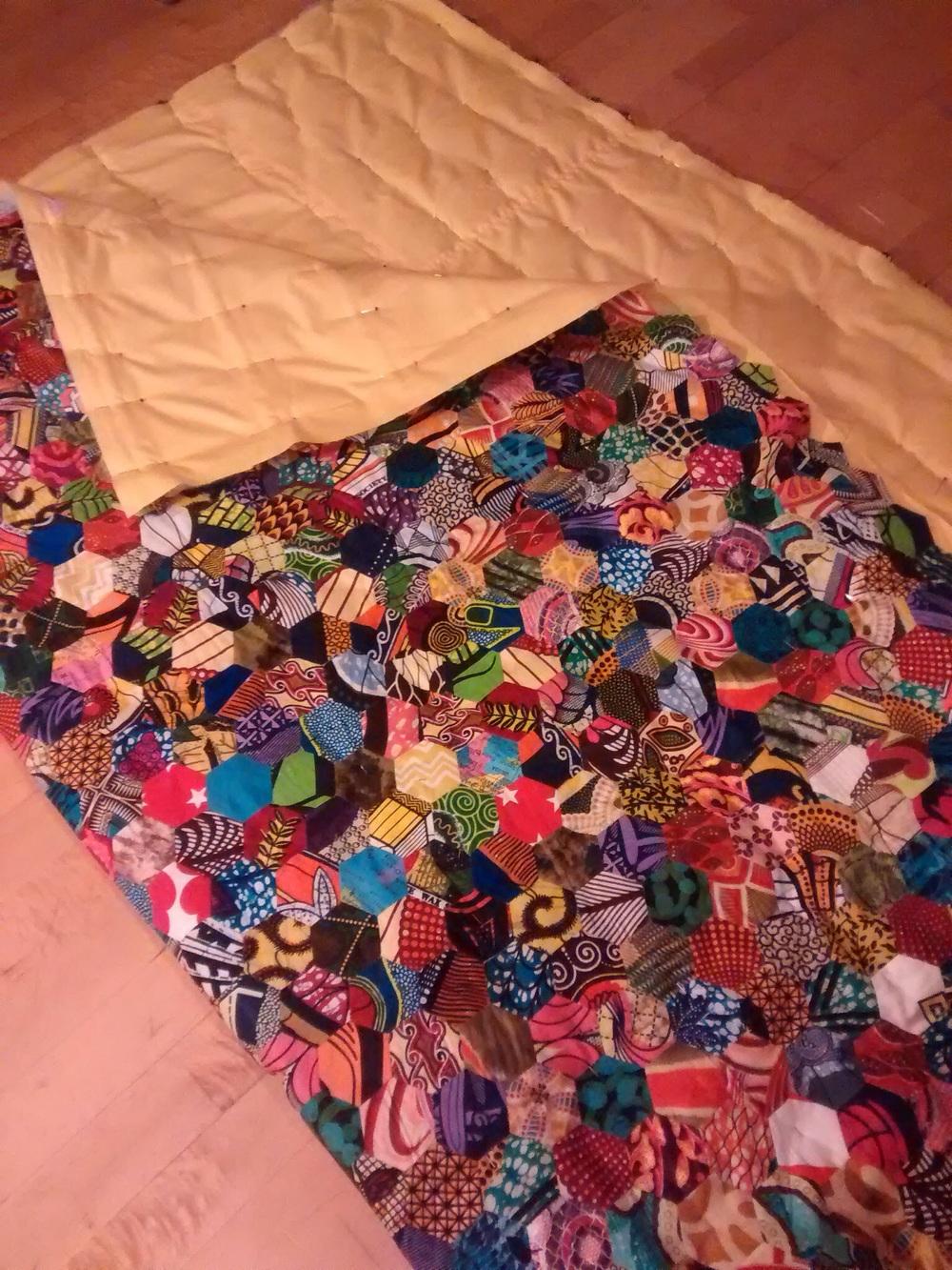Hand stitched padding.