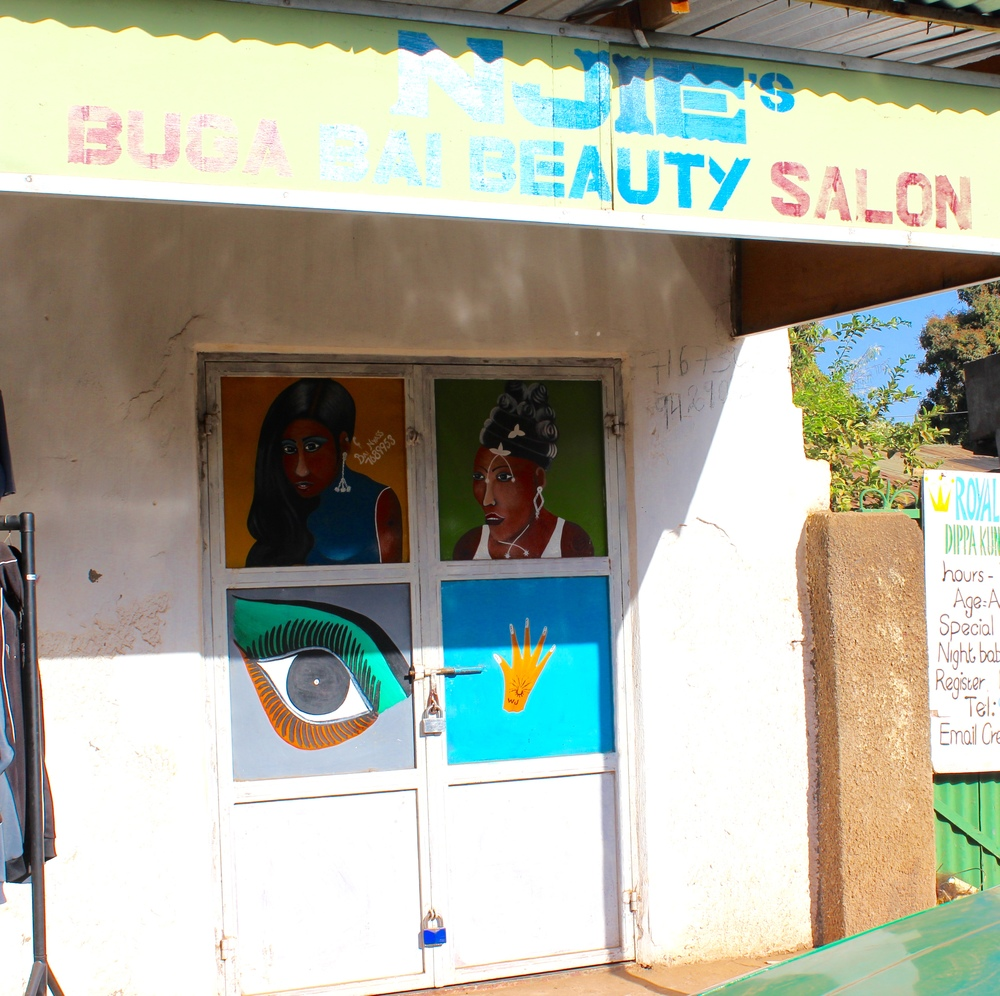 Local beauty parlour. Love the colours.