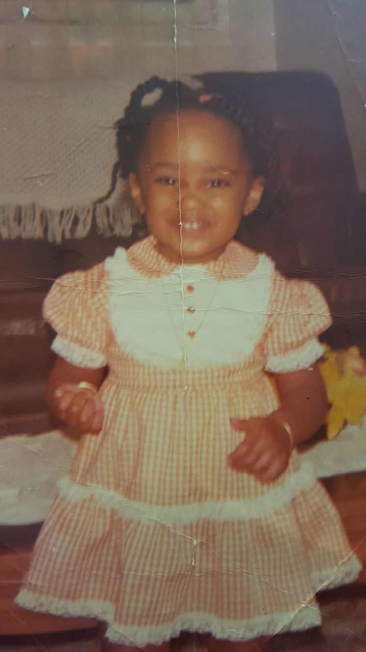 CUTENESS ALERT! Two year old Alison slays before slaying was invented in orange gingham.