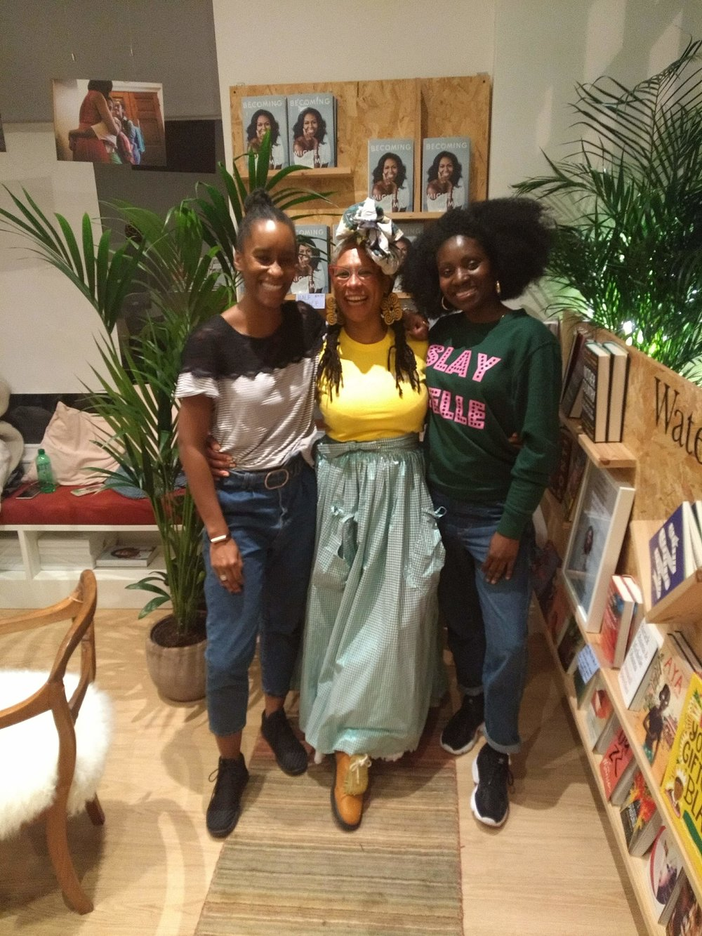 Motherhood reconstructed founders Tamu and Leah held an evening in collaboration with  Gal-Dem  who took over a bookshop in Bloomsbury in honour of Michelle Obamas autobiography Becoming. We discussed the legacy of black motherhood. Such an inspirational evening! November 2018.