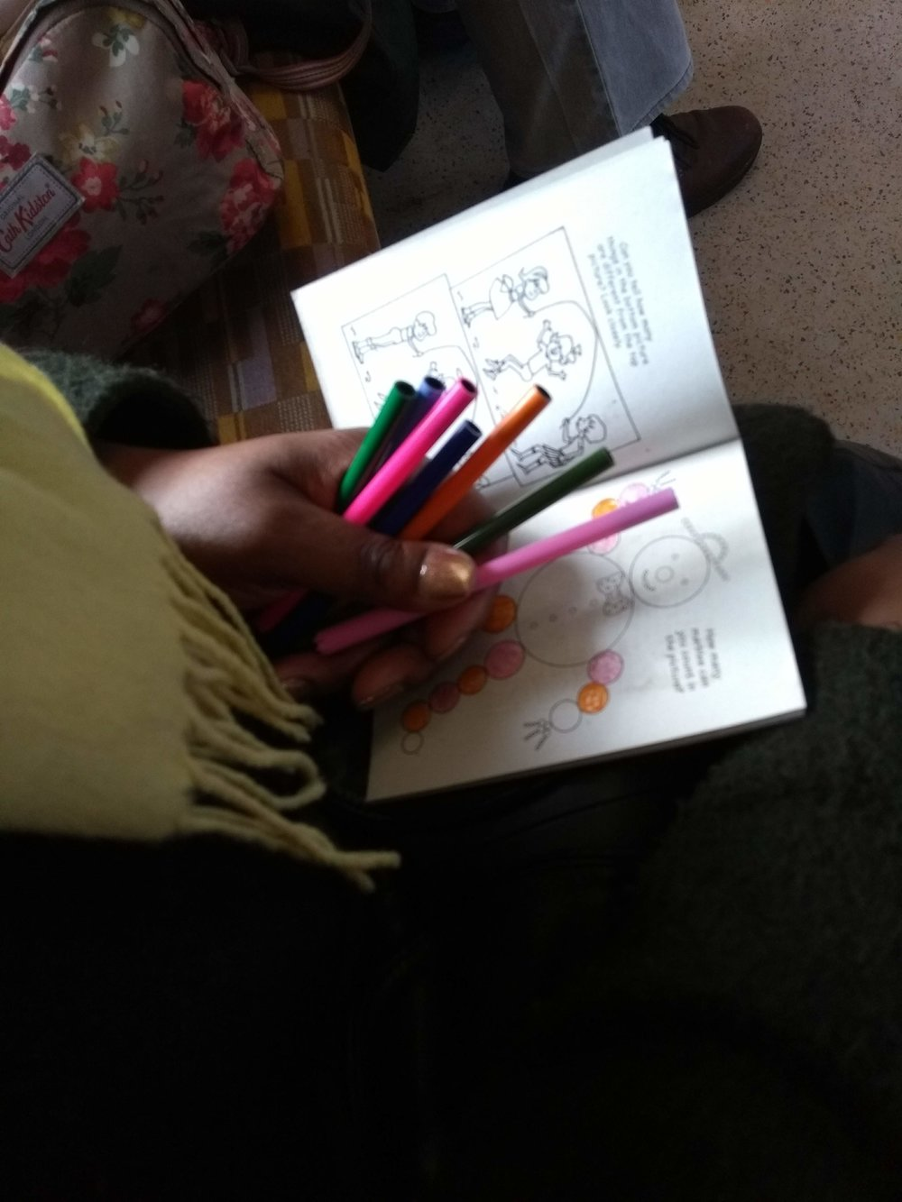 Colouring in can help lower stress levels on a commute