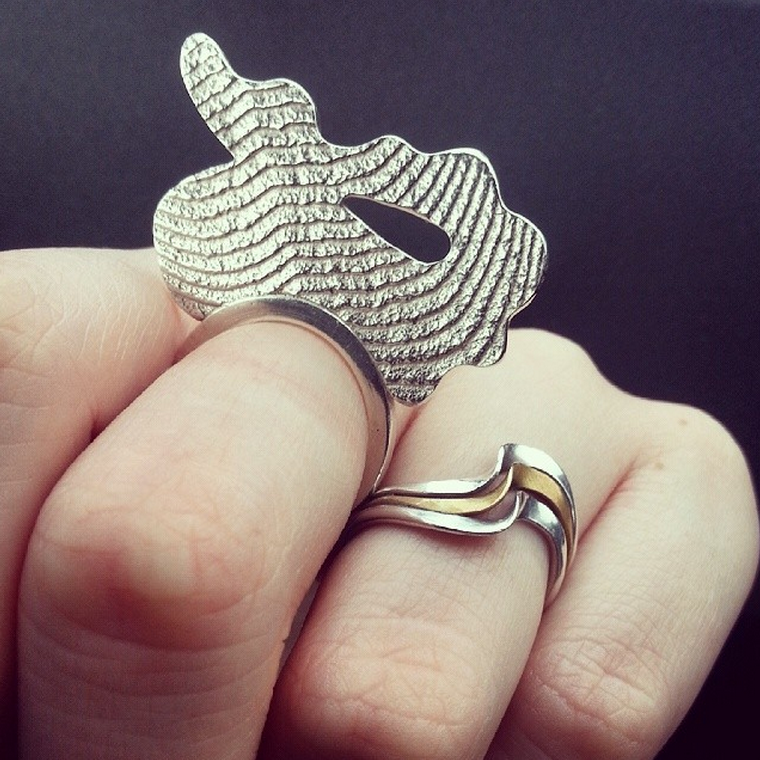 Silver Statement Cocktail Ring