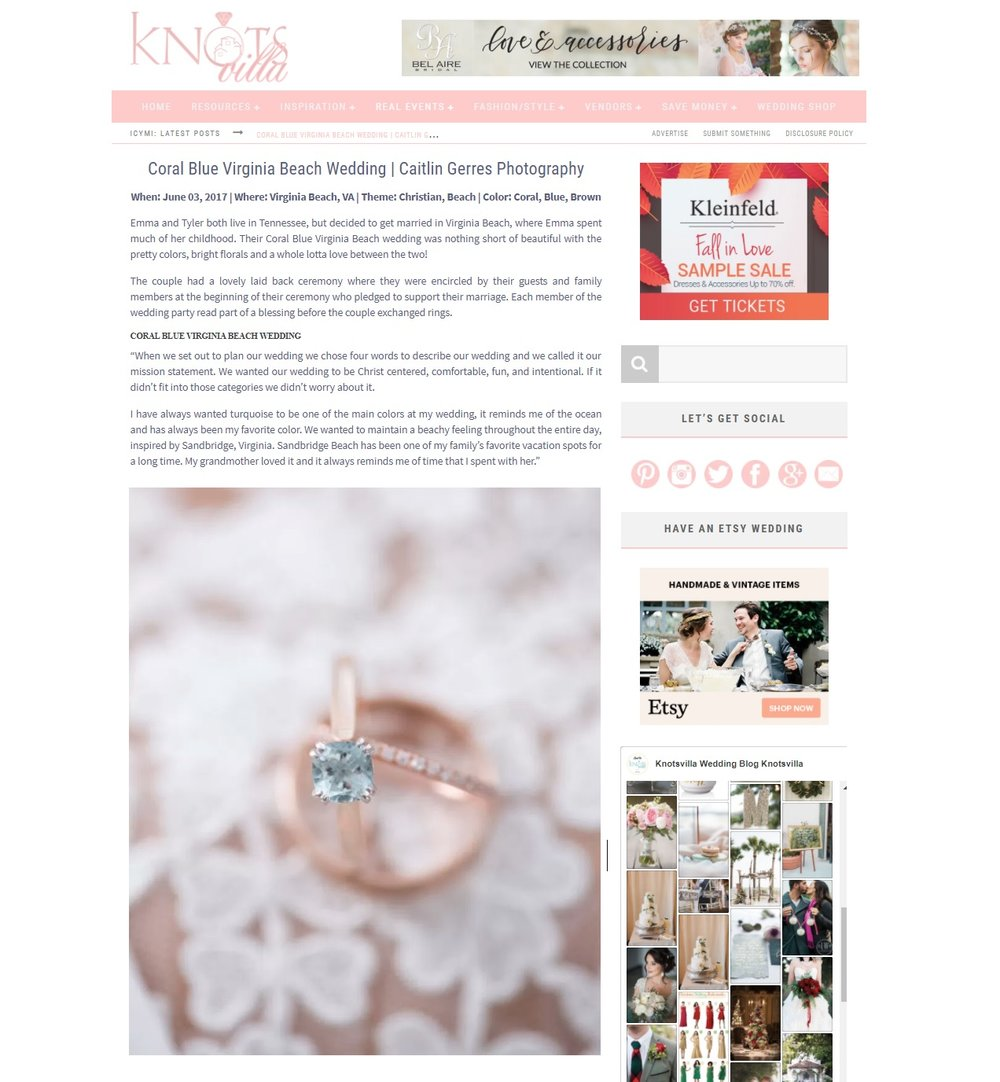 aeda24a3d888 Emma & Tyler's beach wedding was featured on Knotsvilla. You won't want to  miss all the sweet symbolism they wove into their day!
