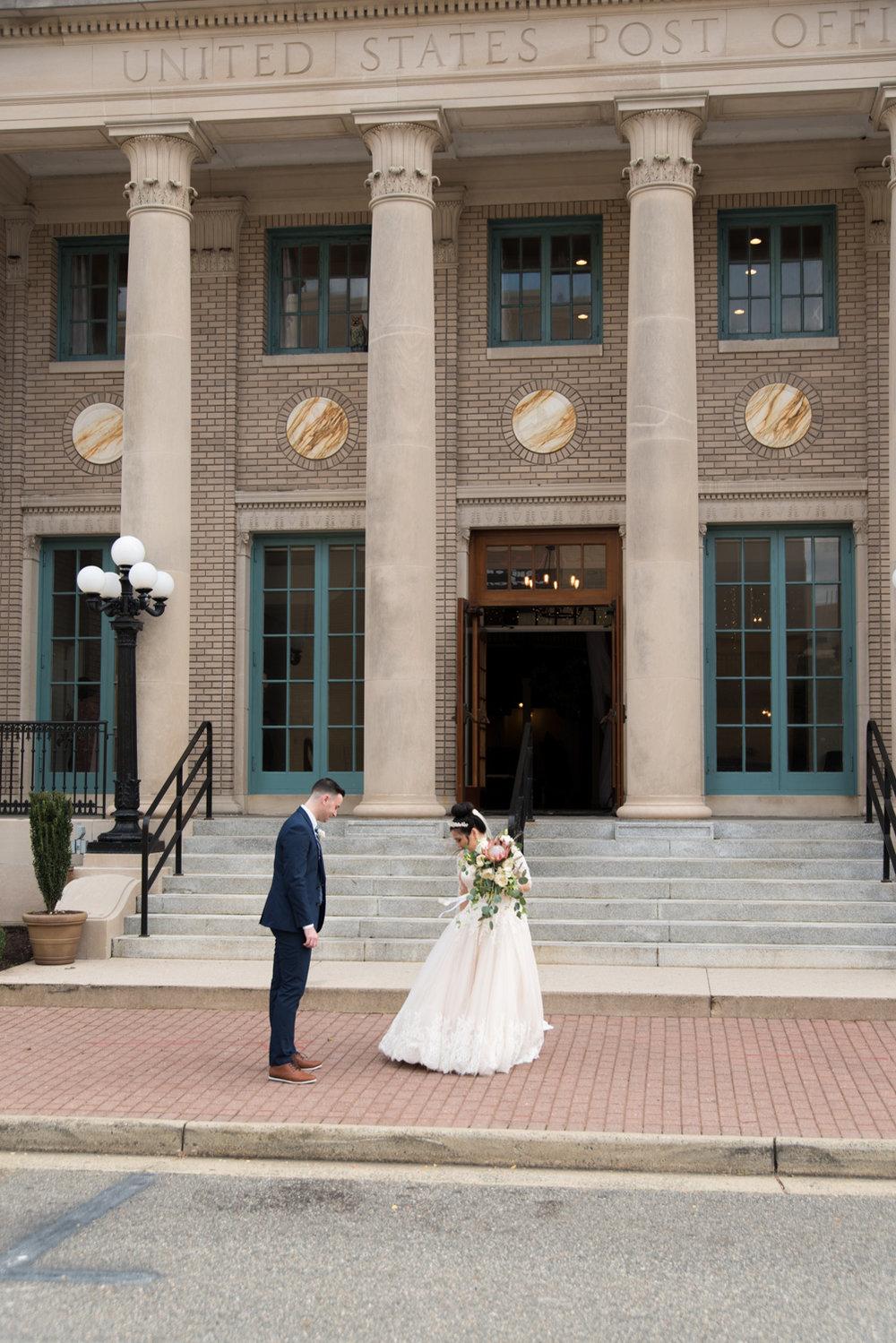Rose Gold Wedding at Historic Post Office Virginia Harry Potter Themed Wedding-133.JPG