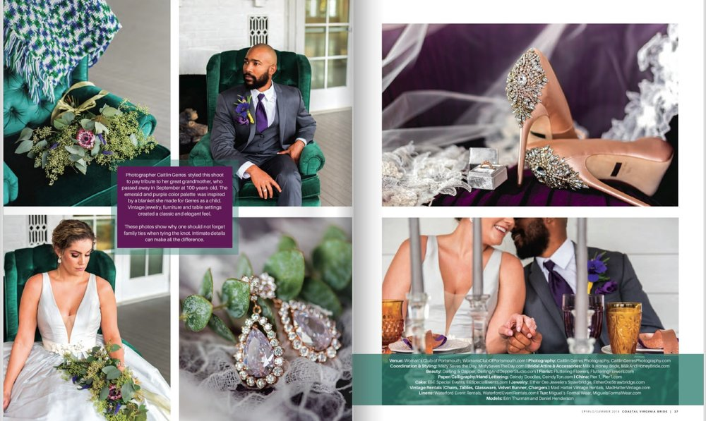 2017 Feature.Emerald Styled Shoot in Coastal Virginia Bride Magazine2.jpg