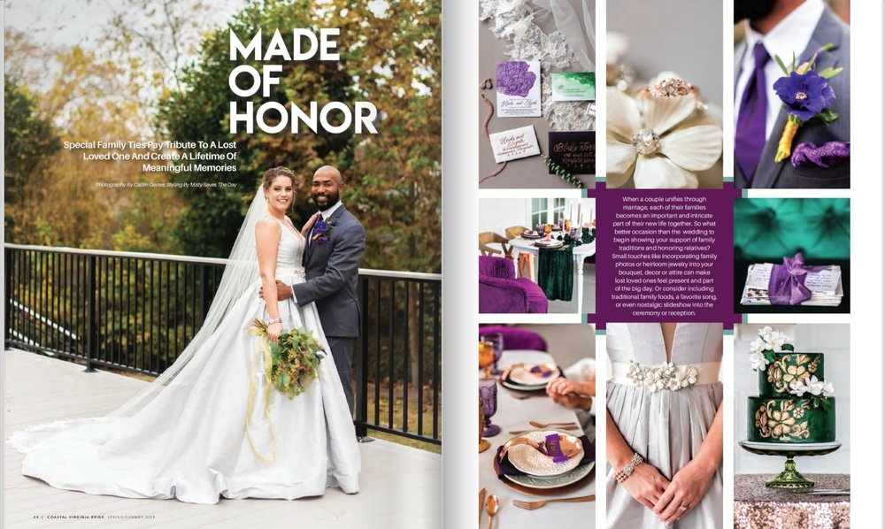 2017 Feature.Emerald Styled Shoot in Coastal Virginia Bride Magazine.jpg