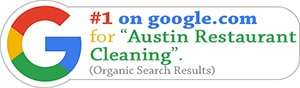 Urban Simple is ranked #1 on google.com for Austin Restaurant Cleaning!  (organic results)