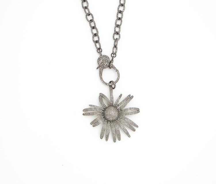 Diamond sunflower pendant pierreharry diamond sunflower pendant aloadofball Gallery