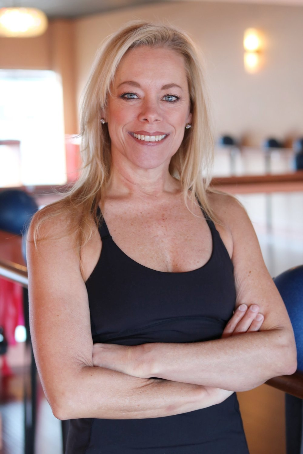 Sue Costigan // Owner + Founder  Sue began her fitness career over 35 years ago and understands it's more than how you look. She discovered Barre workouts during her rehab for a shoulder surgery.